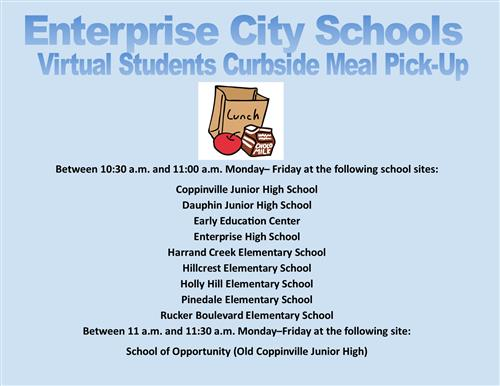 Curbside Meal Pick Up for Virtual Students